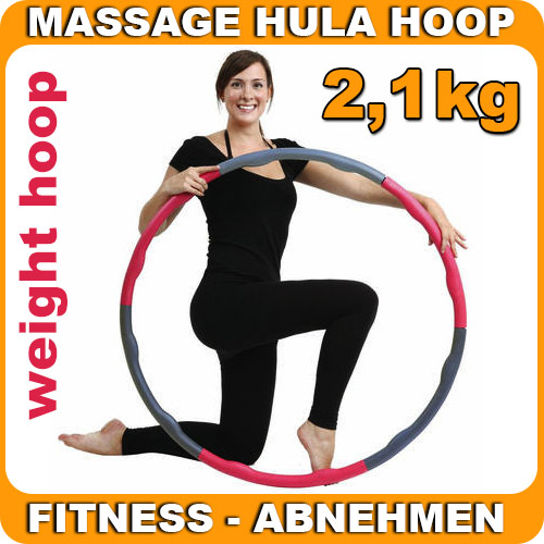 hula hoop weight mit schaumstoff 2 1 kg fitness gymnastik reifen zum abnehmen ebay. Black Bedroom Furniture Sets. Home Design Ideas