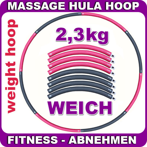 weight hula hoop mit schaumstoff 2 3 kg gymnastik fitness. Black Bedroom Furniture Sets. Home Design Ideas