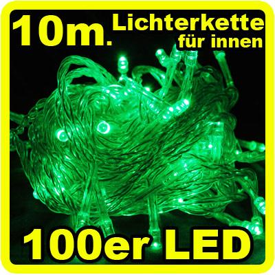 100ER LED Lichterkette 10 Meter FÜR Innen Weihnachtsbaum Dekoration ...