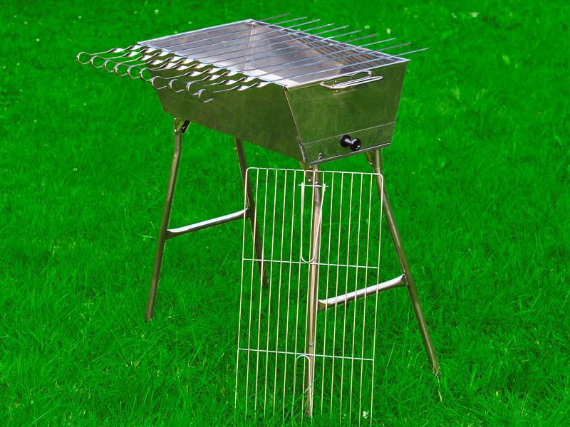 mangal euro lux 100 edelstahl schaschlik grill 10 spiesse set kaufen online bestellen. Black Bedroom Furniture Sets. Home Design Ideas