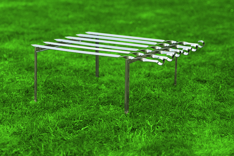 mangal 6 x 60cm x 2mm schaschlikspiesse schaschlik grill. Black Bedroom Furniture Sets. Home Design Ideas
