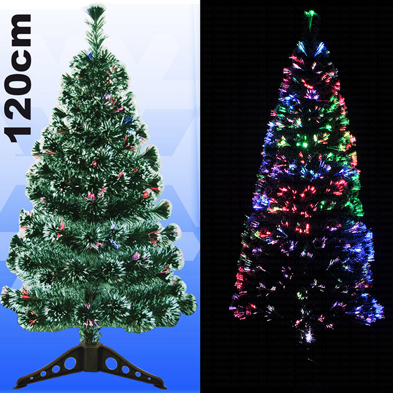 led weihnachtsbaum 120 cm glasfaser christbaum beleuchtet k nstlicher tannenbaum ebay. Black Bedroom Furniture Sets. Home Design Ideas