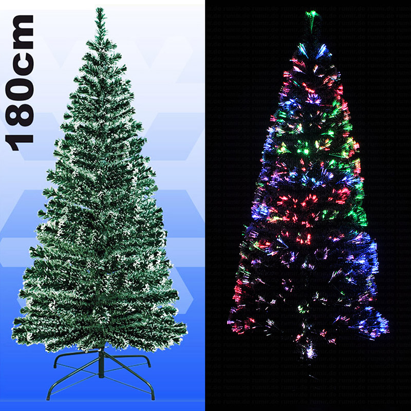 led weihnachtsbaum 180 cm fiberglas christbaum beleuchtet. Black Bedroom Furniture Sets. Home Design Ideas