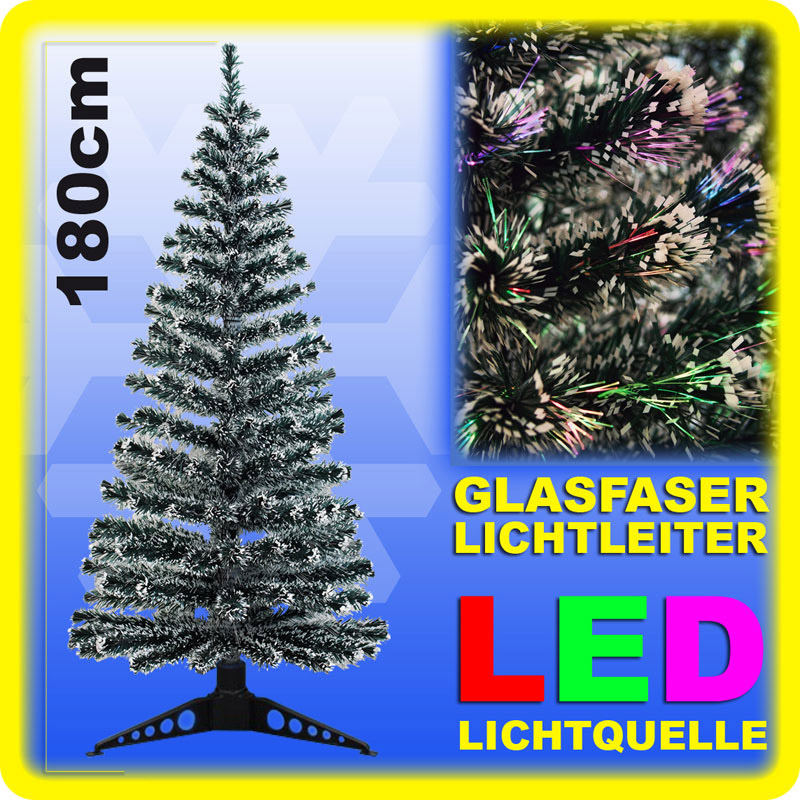 led weihnachtsbaum 180 cm glasfaser christbaum k nstlicher. Black Bedroom Furniture Sets. Home Design Ideas