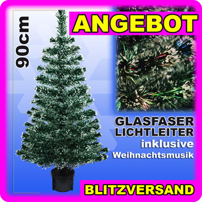 weihnachtsbaum 90 cm glasfaser fiberoptik led christbaum. Black Bedroom Furniture Sets. Home Design Ideas