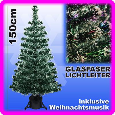 weihnachtsbaum 150 cm led fiberoptik glasfaser beleuchtet. Black Bedroom Furniture Sets. Home Design Ideas
