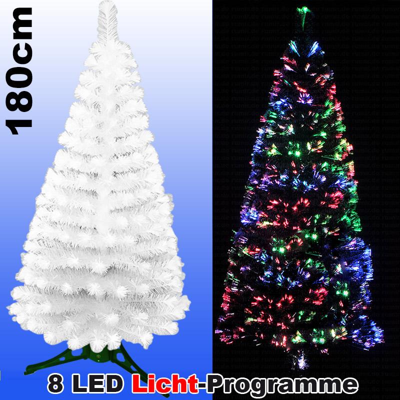 led weihnachtsbaum weiss 180 cm tannenbaum farbwechselnde. Black Bedroom Furniture Sets. Home Design Ideas