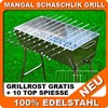 Mangal EURO LUX 100% Stainless Steel Grill Barbecue + 10 shampurov