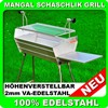 Mangal EURO MEGA V2A 100% Stainless Steel Shashlik Grill Barbecue