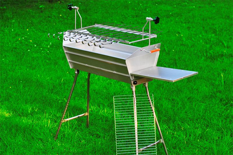 mangal euro mega v2a 100 edelstahl schaschlik grill 10 spiesse set kaufen online bestellen. Black Bedroom Furniture Sets. Home Design Ideas