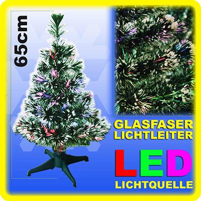 weihnachtsbaum 65cm led mit farbwechselnden glasfaser. Black Bedroom Furniture Sets. Home Design Ideas
