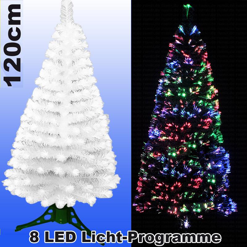 Tannenbaum 120 Cm.Led Weihnachtsbaum 120cm Mit 8 Programmen Farbwechselnden