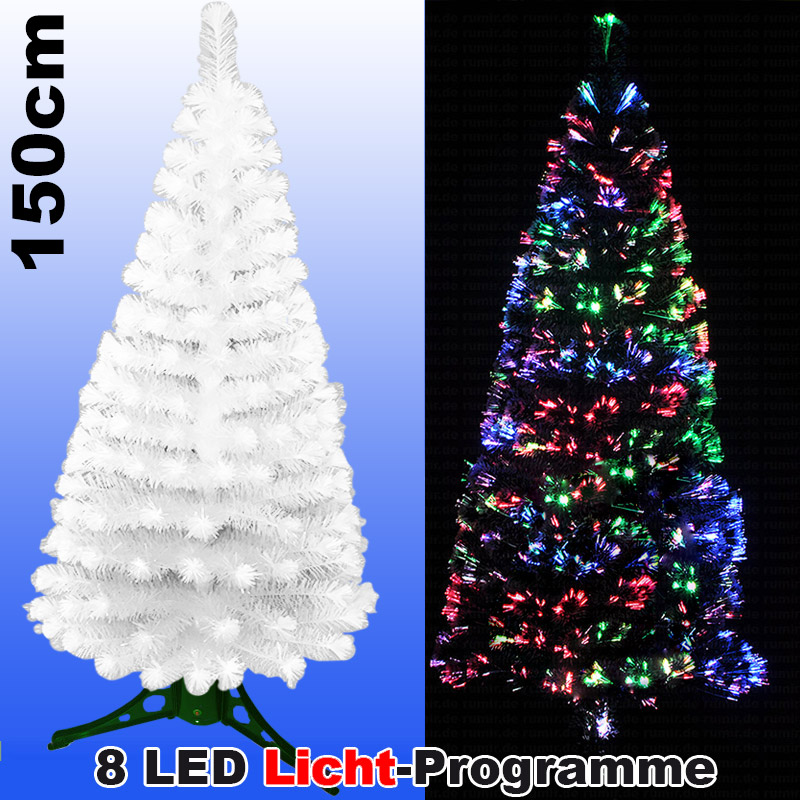 Tannenbaum Led.Led Weihnachtsbaum 150cm Mit 8 Programmen Farbwechselnden